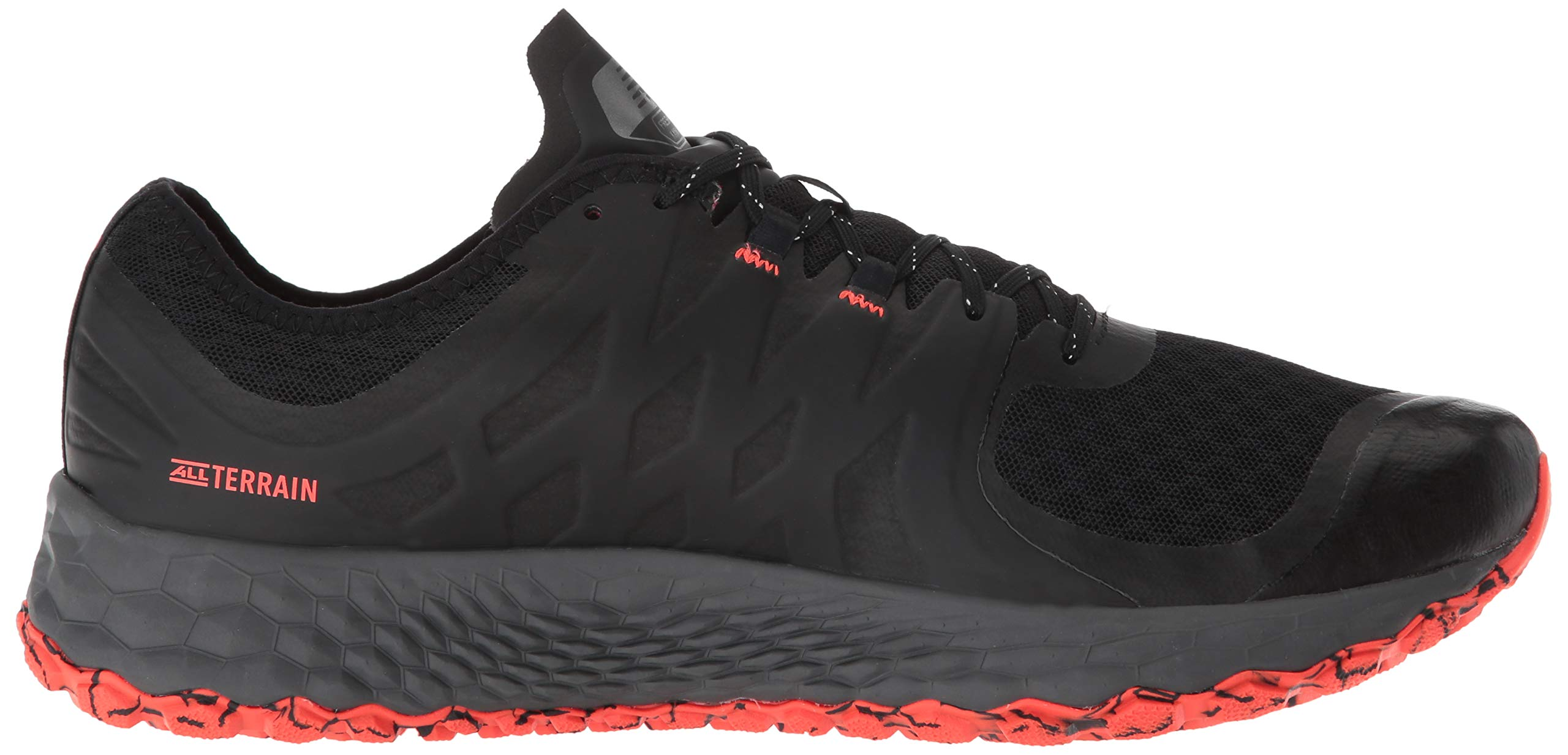 New Balance Men's Kaymin V1 Fresh Foam Trail Running Shoe, Black/Flame/Reflective, 1.5 D US by New Balance (Image #7)