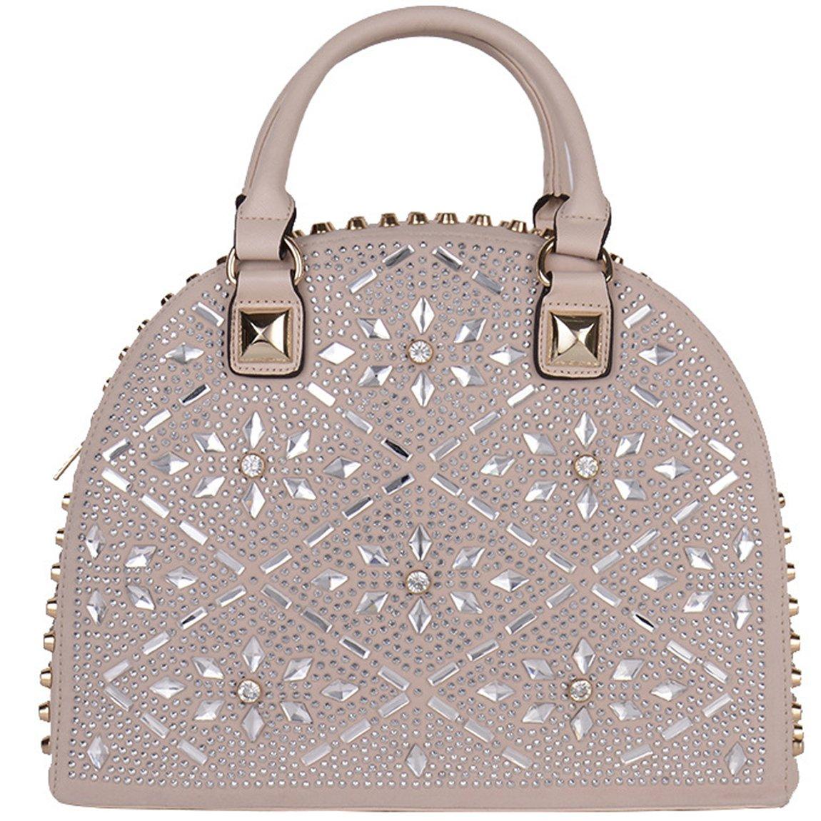 KAXIDY Ladies Handbags PU Leather Shoulder Bags Ladies Totes Bags (Beige)