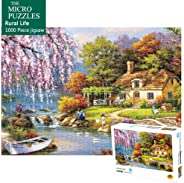 Jigsaw Puzzles 1000 Pieces Puzzles for Adults Micro-Sized Puzzles Rural Life Landscape Painting Jigsaw Puzzles