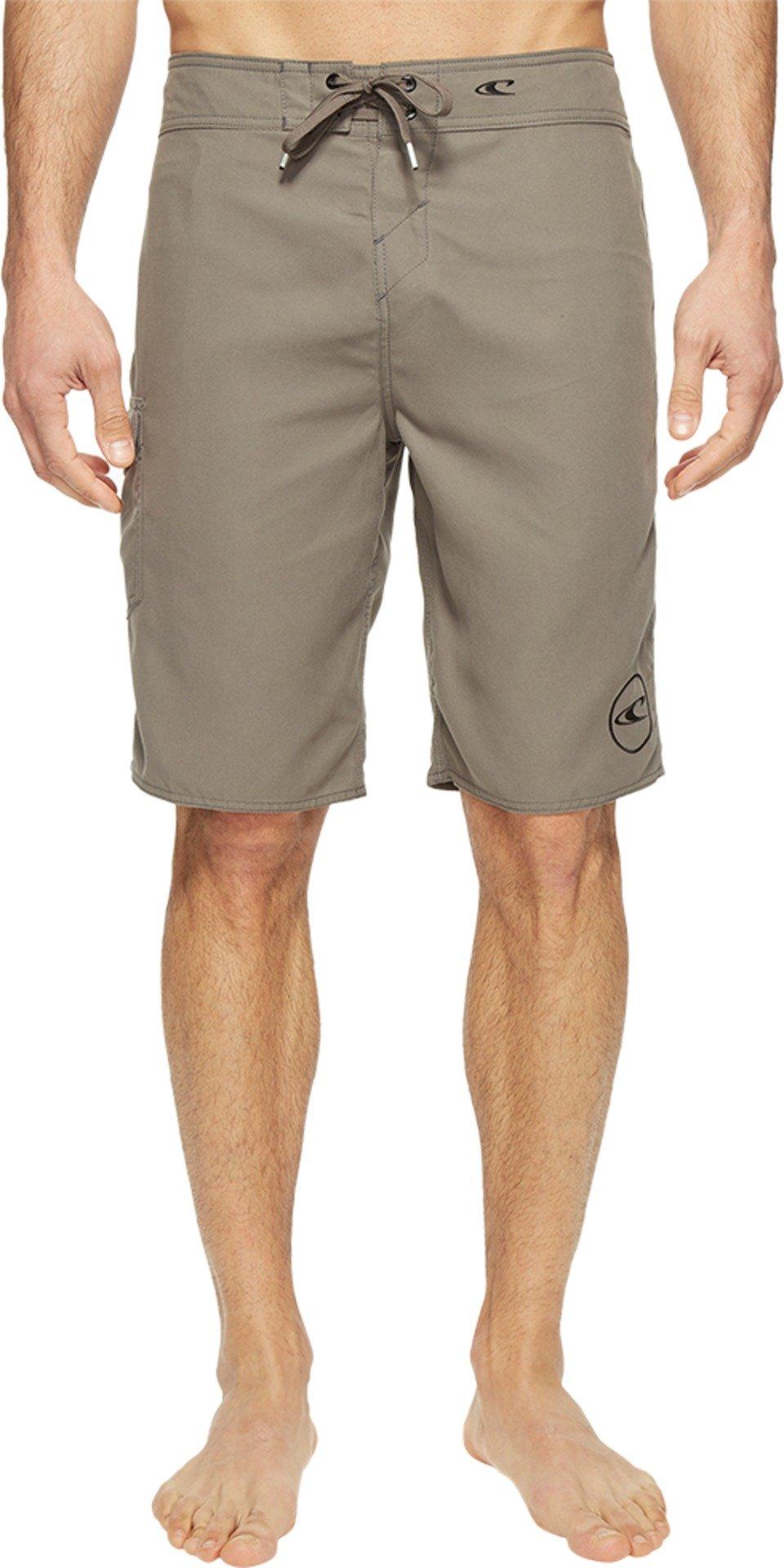 O'Neill Men's Santa Cruz Solid 2.0 Boardshorts Charcoal Swimsuit Bottoms