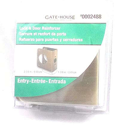 Gate House Lock and Door Reinforcer Brass