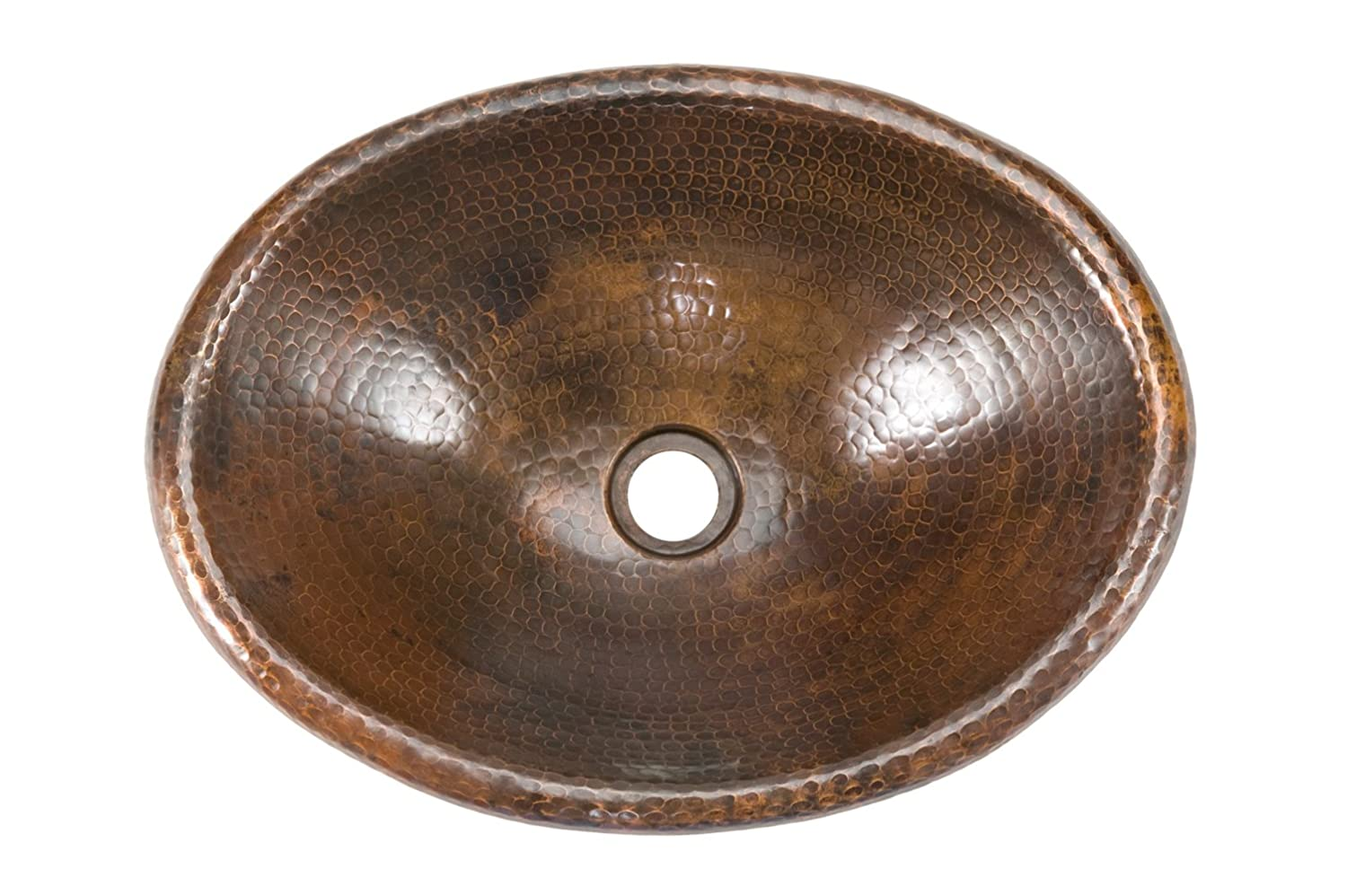 premier copper products lo17rdb small oval self rimming hammered copper sink oil rubbed bronze bathroom sinks amazoncom
