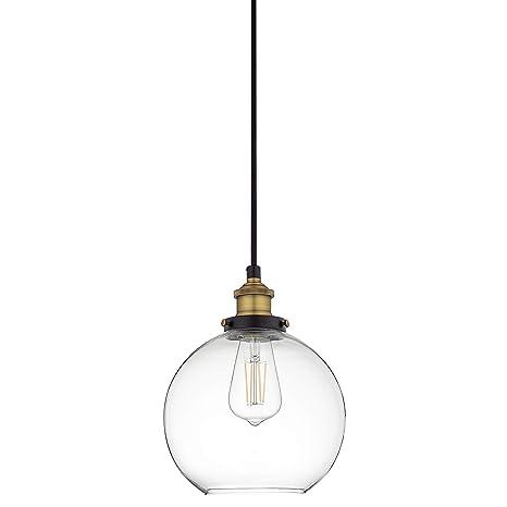 Primo Led Industrial Kitchen Pendant Light Antique Brass Hanging