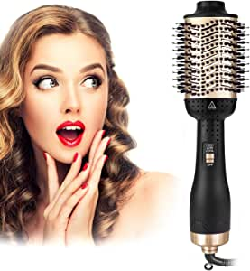 One Step Hair Dryer and Volumizer, szwintec 5 in 1 Hair Dryer Brush Hot Air Brush Comb Blow Dryer Styler Brush Negative Ion Hairdryer for All Hair Types