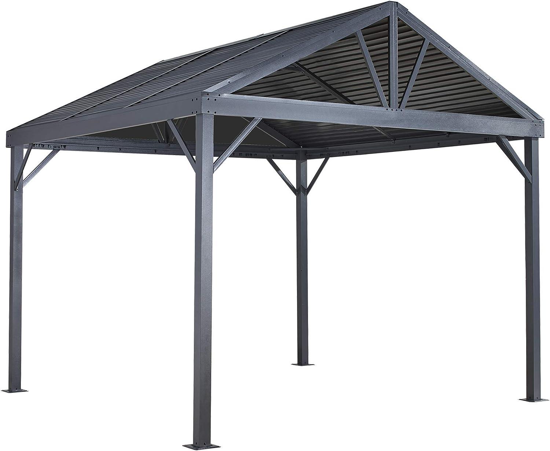ShelterLogic South Beach - Parasol con Acabado de Madera, 30 x 30 cm, Techo de Acero galvanizado, Red de Mosquitos textilene: Amazon.es: Jardín