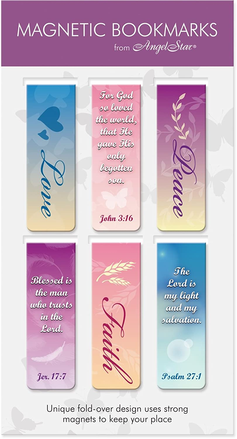 AngelStar Touch of Faith Scripture Magnetic Bookmark 6-Pack 72483