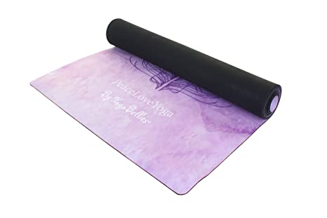 Esterilla PeaceLoveYoga Antideslizante. Alfombrilla para Yoga Profesional, Ecológica de Lujo, de Caucho Natural para Mujeres. Colchoneta Perfecta para ...