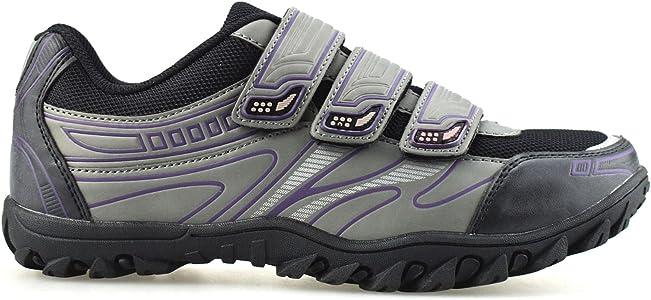 Crivit Sports - Zapatillas de Ciclismo de Piel sintética para Mujer, Color, Talla 36.5: Amazon.es: Zapatos y complementos
