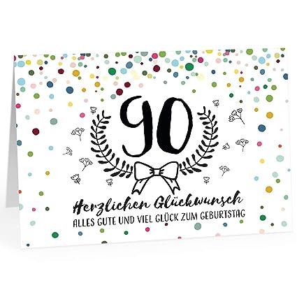 Große Glückwunschkarte Zum 90 Geburtstag Xxl A4 Modernmit Umschlagedle Design Klappkarteglückwunschhappy Birthday Geburtstagskarteextra