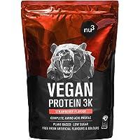 nu3 Veganistisch Eiwit 3K Shake - 1Kg Strawberry - veganistisch eiwitpoeder gemaakt van 3-componenten eiwit met 70…