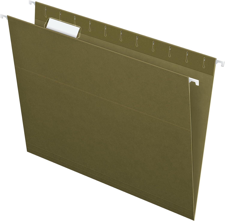 Pendaflex Hanging File Folders 1//5-Cut Adjustable Letter Size Standard Green