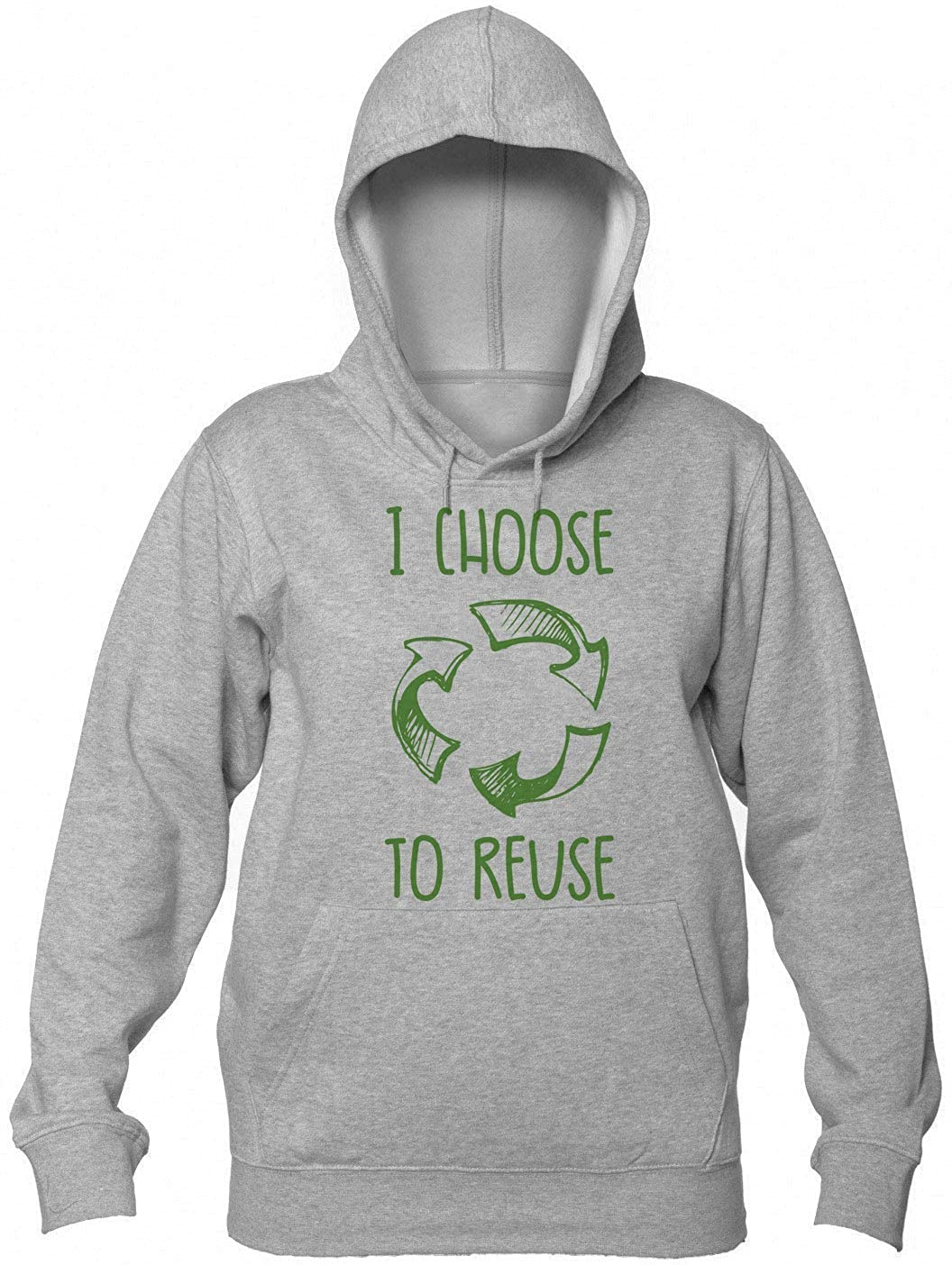 Finest Prints I Choose To Reuse Recycling Cycle Motivational Anti-Trash Design Felpa con Cappuccio da Donna fines-HoodieWOMs-juod-CEEI