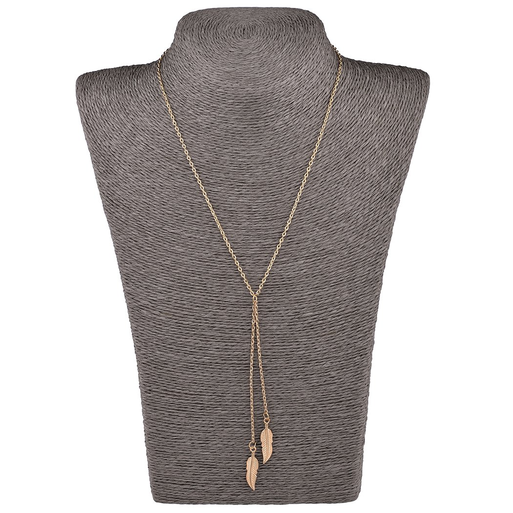Mother's Day Gift- 5 PCS Long Lariat Y Chain Necklace Set Simple Bohemia Multilayer Pendant for Women by Angelus (Image #6)