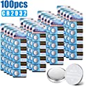 100-PCS Biuble CR2032 Lithium 200mAh 3 Volt Button Battery