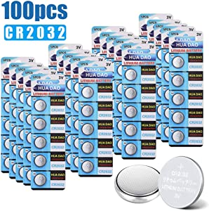 APG CR2032 Lithium Button Battery, 230mAh 3 Volt Coin Battery, Coin Button Cell 100 PCS in Original Package