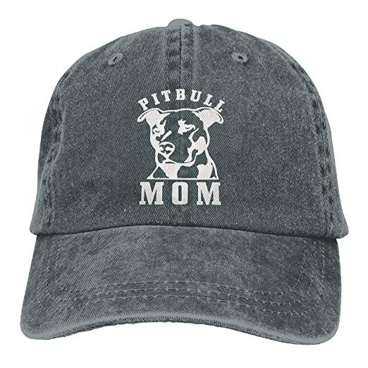 88c6bef91cc3b Image Unavailable. Image not available for. Color  Pitbull Mom Hipster  Unisex Denim Jeans Adjustable Baseball Hat Hip-Hop Cap ...