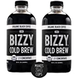 Bizzy Organic Cold Brew Coffee | Concentrate | Makes 24 Cups | 32 oz - 2 Pack