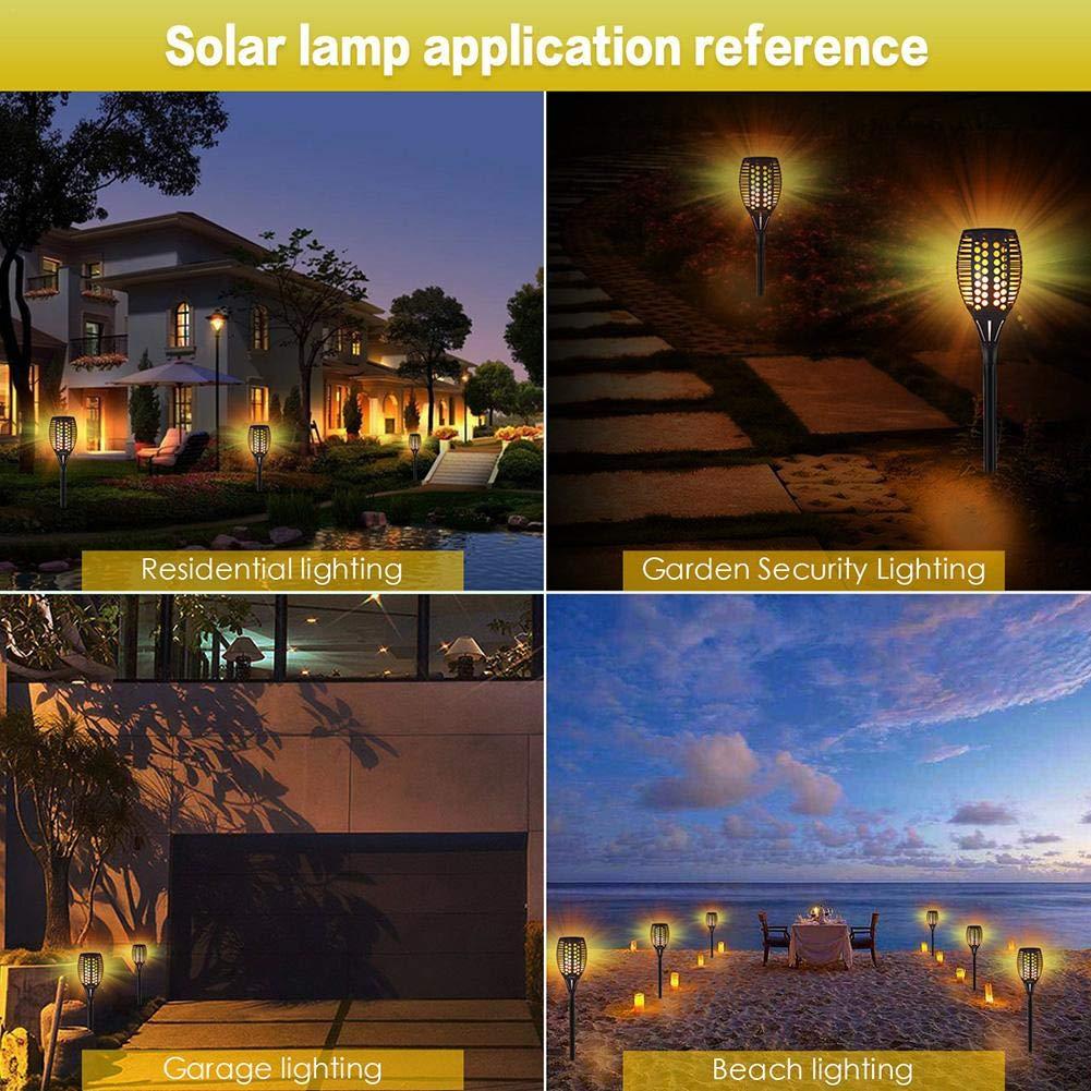 LianLe Solar Torch Lamp Flame Light, Solar Flame Atmosphere Lamp,Waterproof 96LED Landscape Lawn Lamp for Garden Fence by LianLe (Image #7)