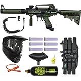 Tippmann Cronus Tactical Paintball Gun 3Skull Remote Mega Set - Olive