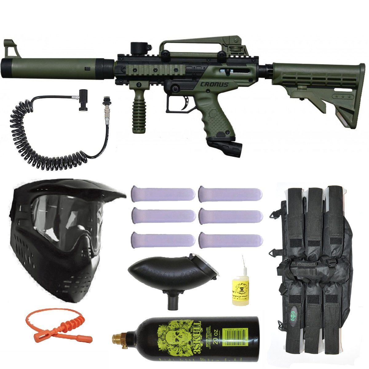 Tippmann Cronus Tactical Olive Paintball Marker Gun Power Package by Tippmann