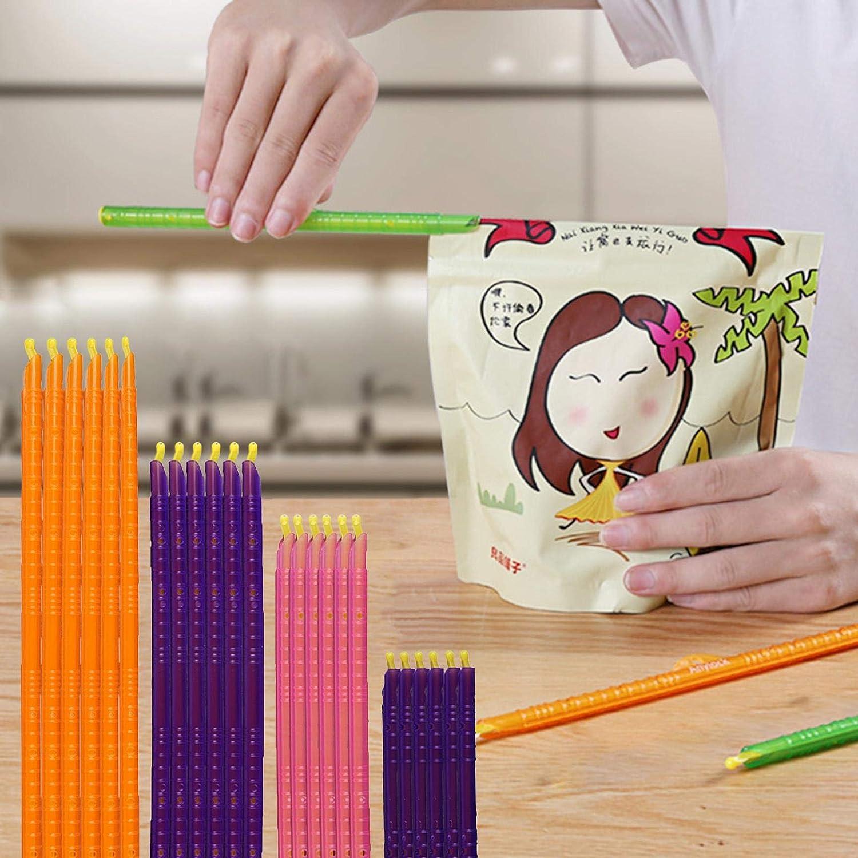 Stick Sigillanti Per Sacchetti Magici Clip Per Sacchetti Di Trucioli Stick Per Sigillanti Per Sacchetti Di Plastica 24 Bastoncini Sigillanti Per Sacchetti Clip Per Alimenti Da Cucina