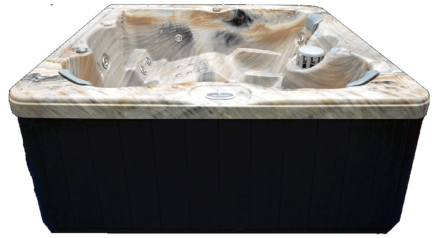 """6 Person 51 Outdoor Spa with Stainless Jets & Ozone, 82"""" x 82"""" x 35"""", Tuscan Sun"""