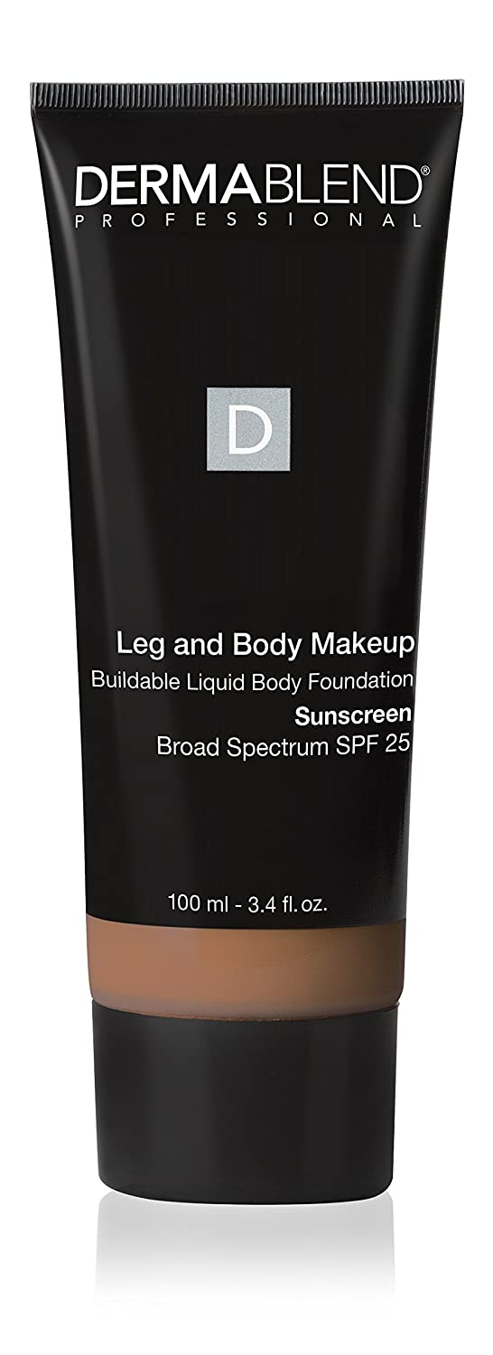Dermablend Leg and Body Makeup Liquid Foundation With Spf 25 for Medium Coverage & All-day Hydration, 12 Shades, 40W Medium Golden, 3.4 Fl. Oz.