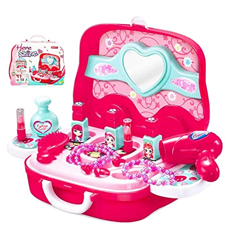 amazon com little girls pretend makeup kit cosmetic pretend play