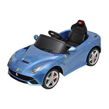 ferrari f12 kids 6v electric ride on toy car w parent remote control blue
