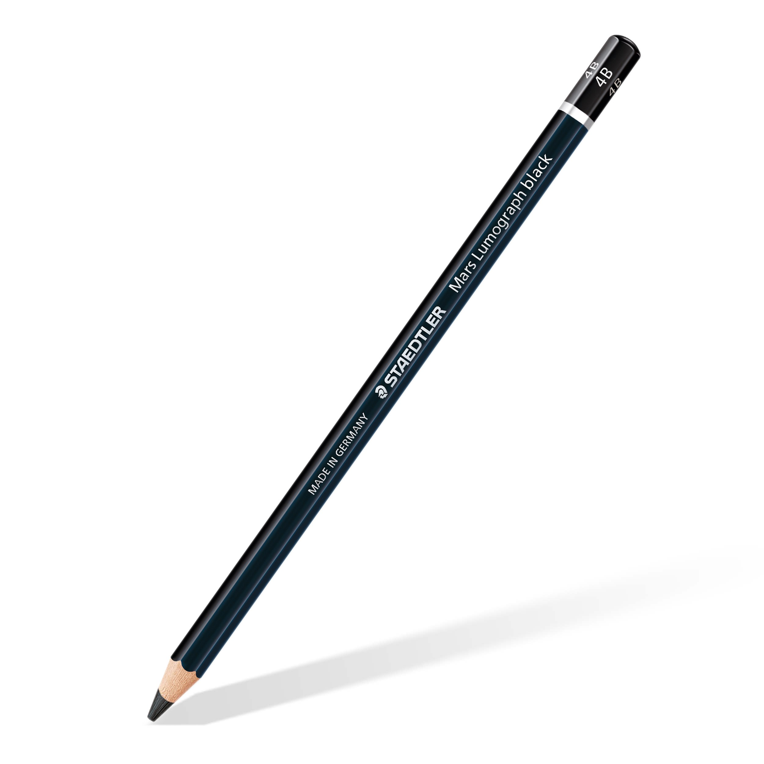 Staedtler Mars Lumograph 100B-4B Premium Quality Pencil 4B Box of 12, Black