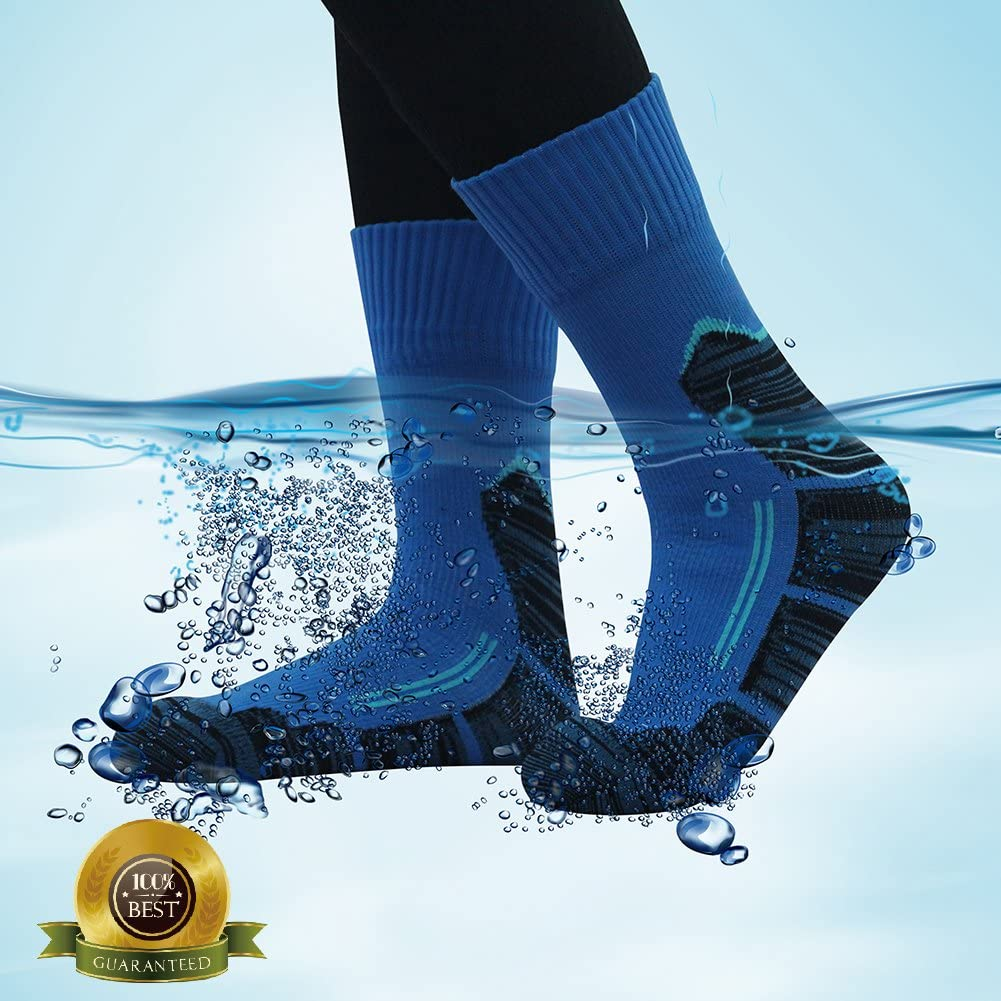 SGS Certified RANDY SUN Unisex Ventilated Breathable Skiing Trekking Sock 100/% Waterproof Hiking Socks,