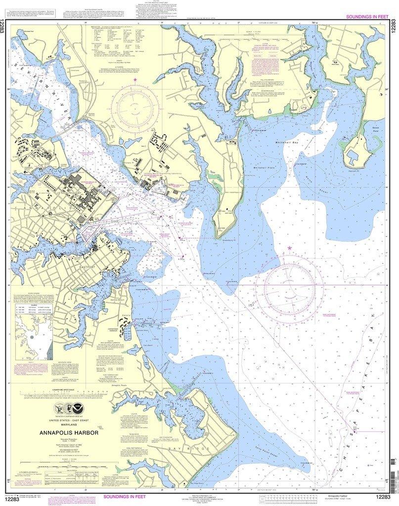 NOAA gráfico 12283: anápolis Harbor: Amazon.es: Deportes y ...