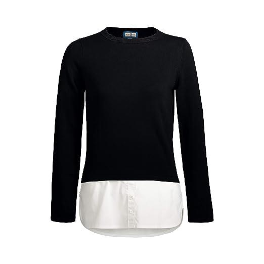 931500d86e0 SkinnyShirt Long Sleeve Poplin Tail Sweater Women Black Womens Sweater …  (Black