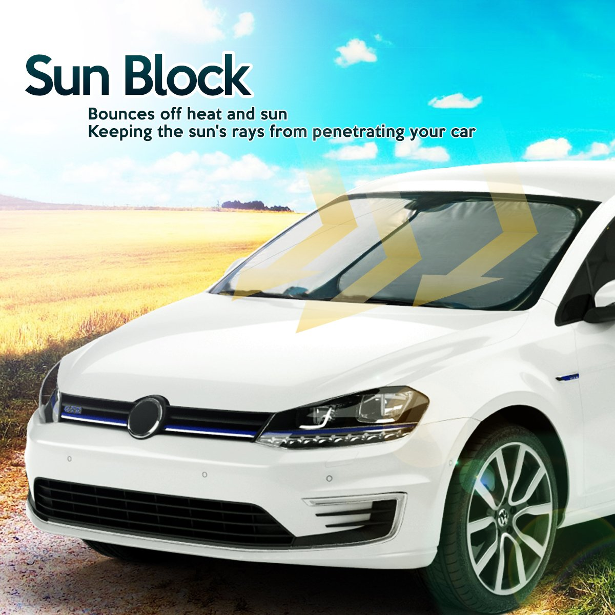 Car Windshield Sunshade Nylon Protector Zone Tech Magic SunShade Cover Front Suv Window Blocker Auto Premium Quality Super Jumbo Reflective Sunshade