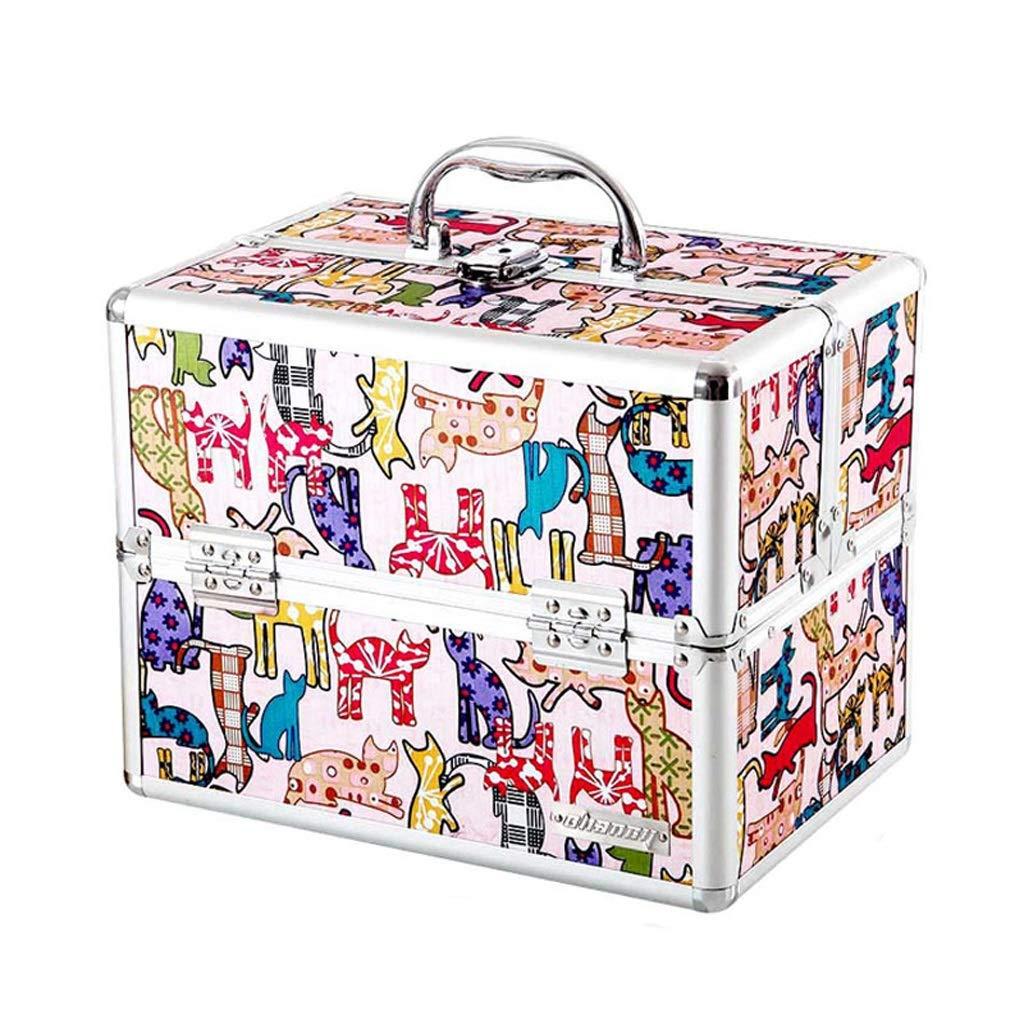 CQ 漫画かわいい医学のボックスホームメディカルボックスマルチレイヤー完全小型のミニボックスベビーチャイルドベビーの医学ボックス (Color : Pink)  Pink B07KTYTRL1