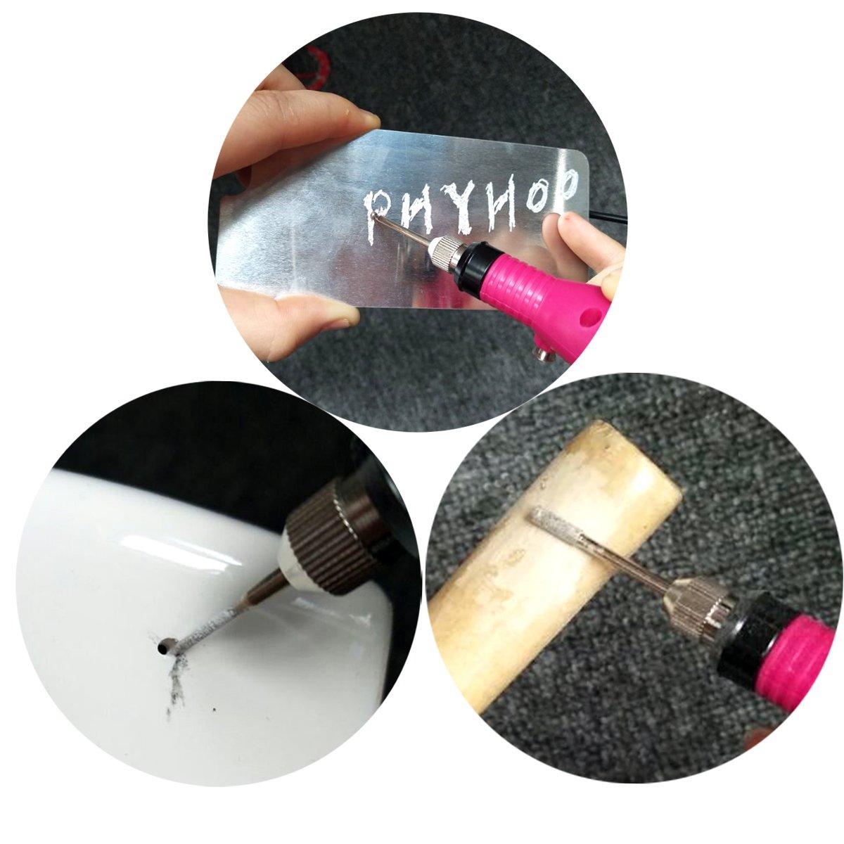 PHYHOO Diamond Burr Bits Drill Bit Glass Gemstone Metal for Dill Bits Craftsman Rotary Tool Drill Accessories 90 Pieces