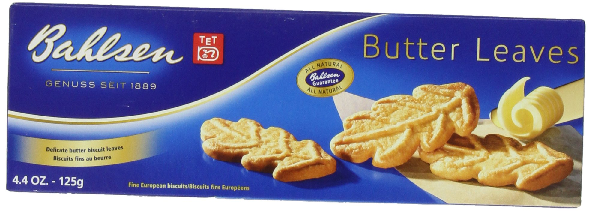 Bahlsen Butter Leaves Cookies, 4.4-Ounce Boxes (Pack of 12)
