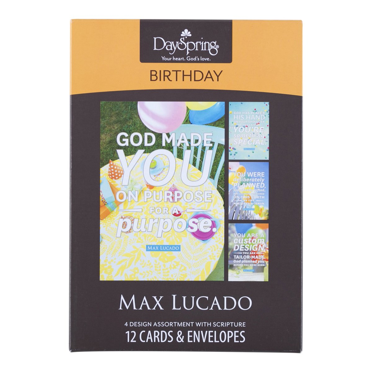 Amazon birthday inspirational boxed cards max lucado god amazon birthday inspirational boxed cards max lucado god made you office products kristyandbryce Choice Image