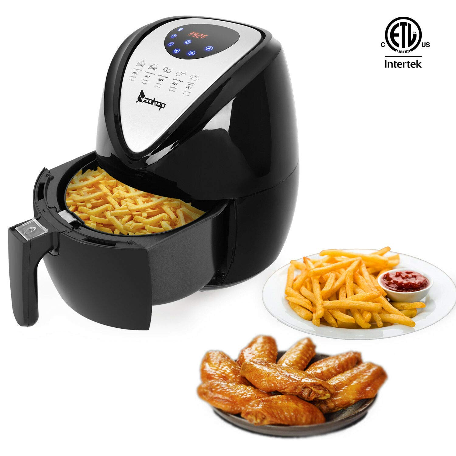 ARB Market 1500W LCD Electric Air Fryer 3.5L Best Price User Friendly,Electric Air Fryer Convection Oven Cooker With Temperature Control, Non-Stick, Temp Control, Timer, Removable Fryer Basket (Black)
