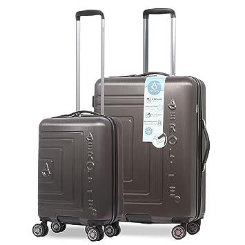 Aerolite - Paquete de Maleta de Equipaje de 3 Ruedas con Carcasa rígida, ABS, 8 Ruedas livianas, Equipaje de Mano ...