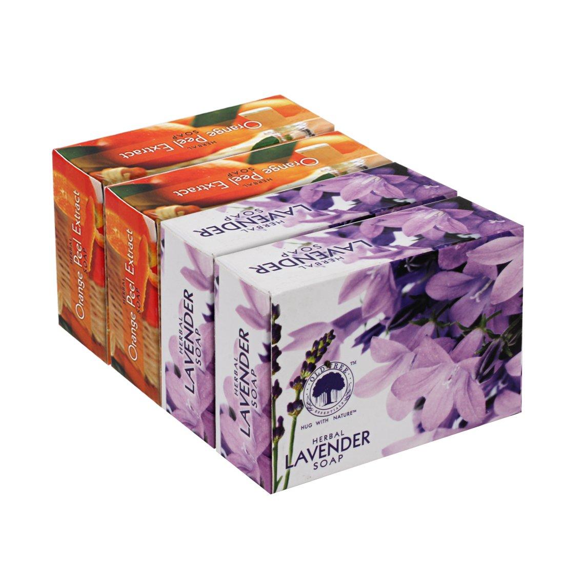 Herbal Soap Lavender and Orange Peel (Pack Of 4,120 gm each)