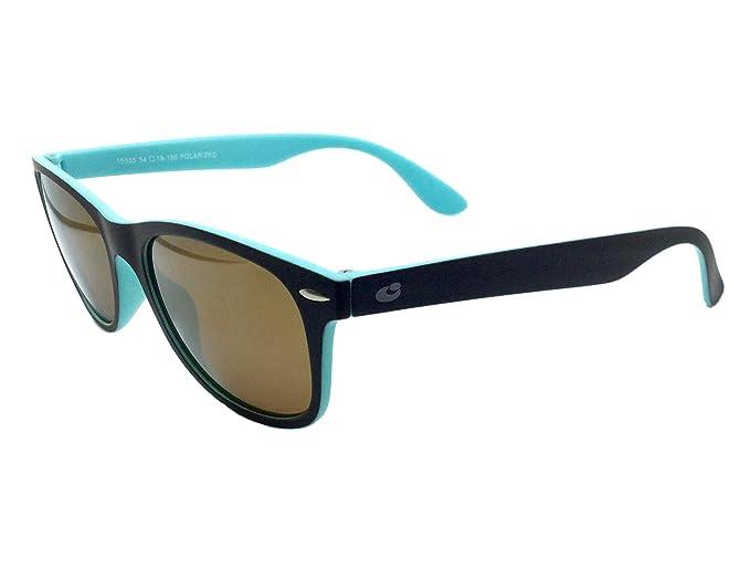 1261c46984 CentroStyle 15335 54, gafa sol unisex, montura negra con reverso azul,  lentes en gris uniforme.: Amazon.es: Ropa y accesorios
