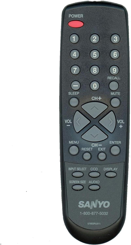 Sanyo Original 076e0ru011 televisor LCD Mando a Distancia para Modelos: dp19241, DP19640, DP26640, dp39e23: Amazon.es: Electrónica
