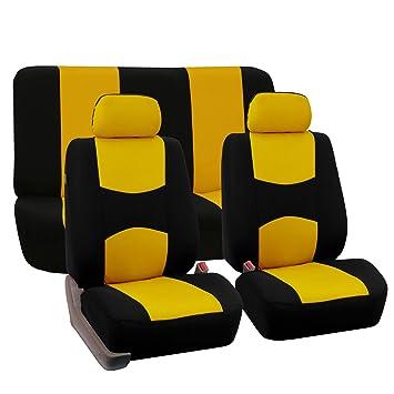 Amazon.com: FH GROUP FH-FB050112 Full Set Flat Cloth Car Seat Covers