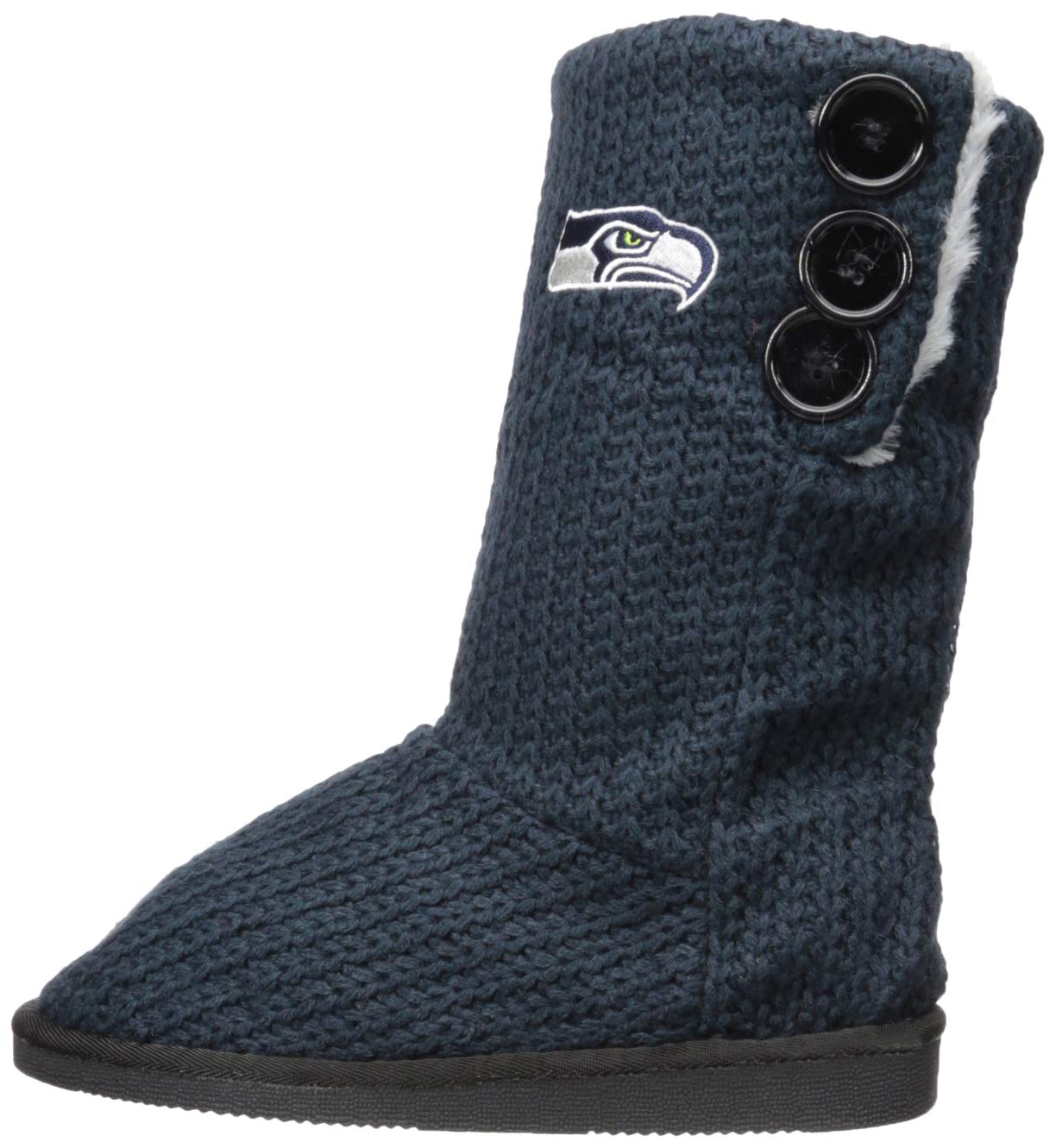 1ad6c048d73 Amazon.com   NFL Womens Knit Team Color High End Button Boot Slipper    Sports   Outdoors