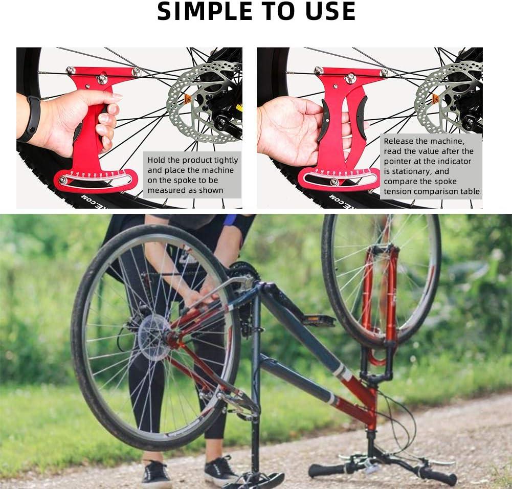 FDYD Fahrrad Spoke Tension Meter Rad Speiche Spannungsmesser