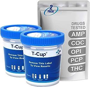 MiCare [2pk] - 5 Panel Multi Drug Test Cup (AMP/COC/OPI/PCP/THC) #MI-TDOA-154