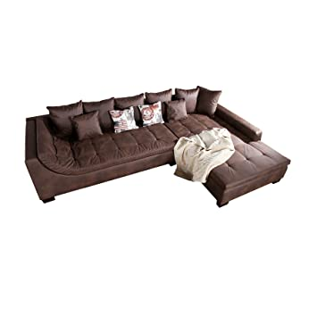 Exclusive Wohnlandschaft Mombasa Braun Antik Ecksofa Amazon De