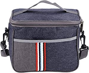 ROSEBEAR Thermal Insulated Lunch Bag, Food Storage Case Container for Work School Travel Camping.