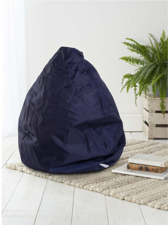 Mobili Rebecca Puff a Pera Pouf a Sacco Blu Scuro Pvc Polistirolo Relax Confort Sedia Morbida Living Cod. RE4632